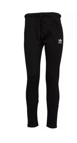 adidas Originals Womens Slim Fit Open Hem Track Pants Bottoms Black BI1295 BNWT